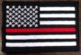 thin red line flag patch