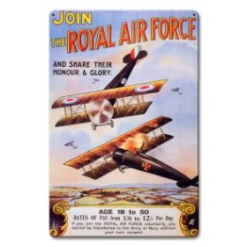 JOIN THE ROYAL AIRFORCE SIGN