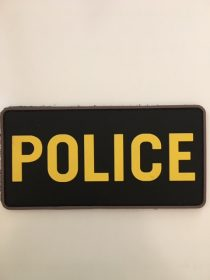 POLICE PATCH RUBBERIZED