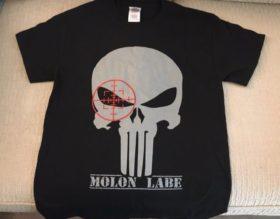 molon labe t shirt front side