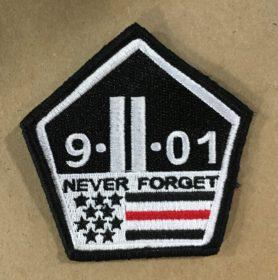 9-11 red stripe patch