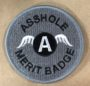 zsshole merit badge gray patch