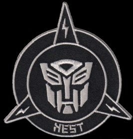 black and white transformer patch