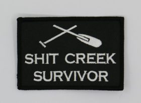shit creek embroidered patch